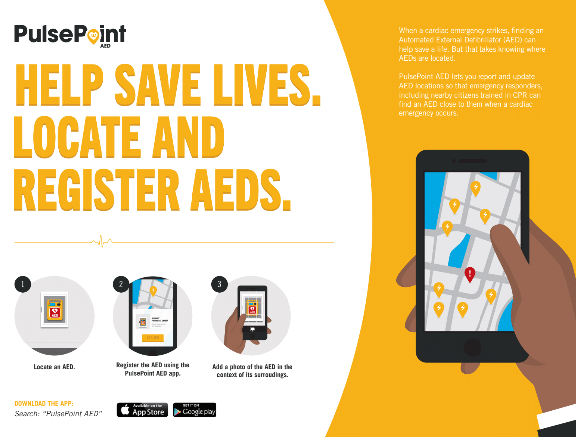 PulsePoint AED Infographic. Description follows in page copy.