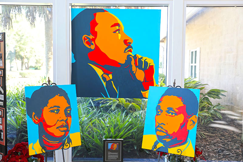 Paintings of black leaders