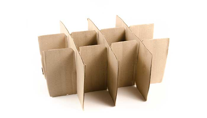 Cardboard packing insert