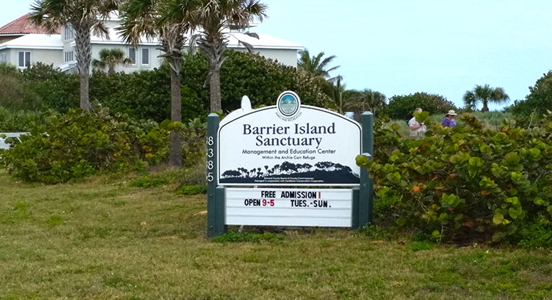 Barrier Island Santuary Sign