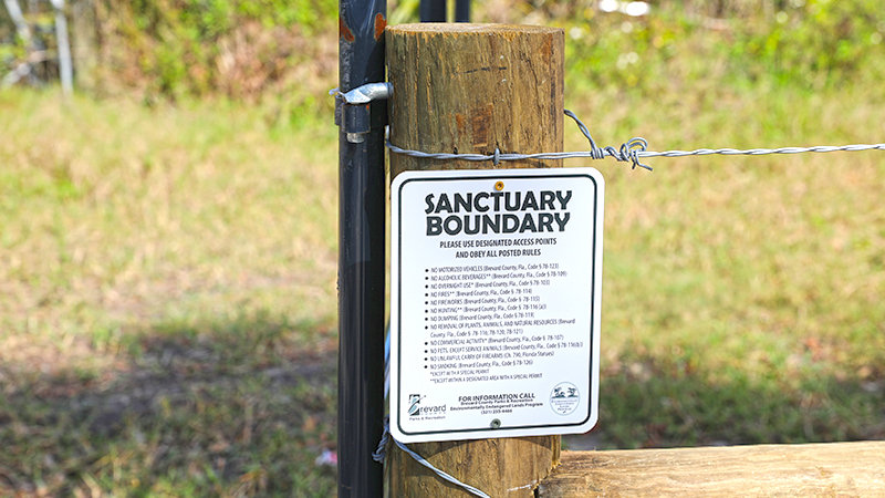 Sanctary Boundary sign