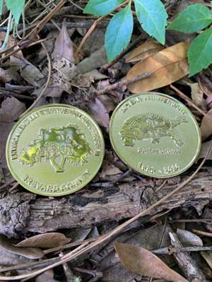 Brevard County Environmentally Endangered Lands Program commemorative treasure coins.